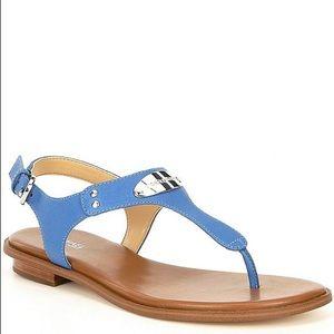 MICHAEL Michael Kors Leather MK Plate Thong Sandal